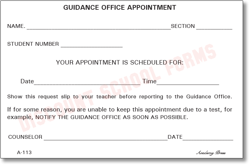 guidance office appointment a 113 dsf