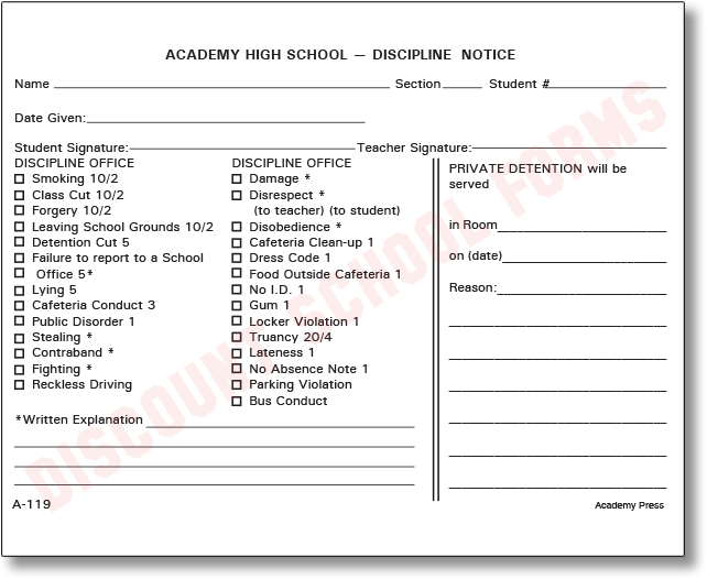 discipline forms archives dsf